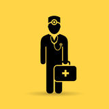 Medical aid doctor vector icon Royalty Free Stock Image