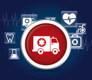 Medical ambulance first aids. Medical first aids icon vector illustration graphic design Royalty Free Stock Photography