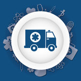 Medical ambulance first aids. Medical first aids icon vector illustration graphic design Royalty Free Stock Photos