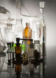 Medical ampoules  and bottles Stock Photos