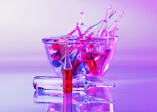 Medical ampoules still life Royalty Free Stock Photography