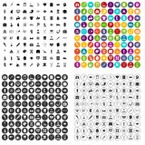 100 medical anatomy icons set vector variant. 100 medical anatomy icons set vector in 4 variant for any web design isolated on white Stock Photography
