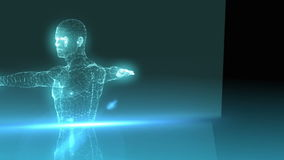Medical animation with vitruvian  man graphic stock footage