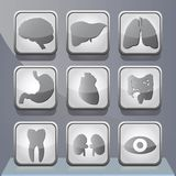 Medical app buttons Royalty Free Stock Image