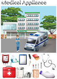Medical appliance and hospital scene Stock Photography