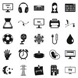 Medical application icons set, simple style. Medical application icons set. Simple set of 25 medical application icons for web isolated on white background Royalty Free Stock Photos