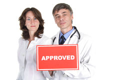 Medical approbation Royalty Free Stock Photo