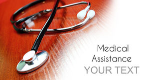 Medical assistance background Royalty Free Stock Image