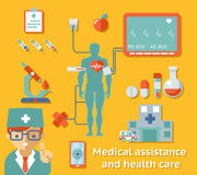 Medical assistance and health care concept Stock Images