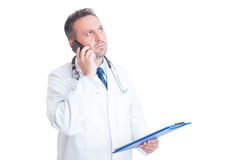 Medical assistance over the phone concept Royalty Free Stock Photo
