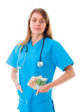 Medical attention has costs too Stock Photography