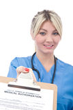 Medical authorization form Royalty Free Stock Photo