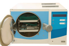 Medical autoclave for sterilising surgical Royalty Free Stock Image