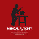 Medical Autopsy Graphic. Vector Illustration royalty free illustration