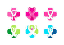 Medical awareness symbol design. In a set Stock Image