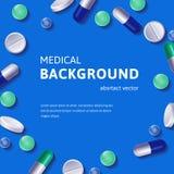 Medical backgroun with pills Royalty Free Stock Photos