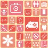 Medical Background. Illustration of medical icon on abstract collage background Royalty Free Stock Photography