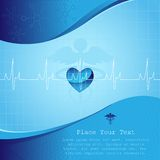 Medical Background. Vector illustration of medical background with life line Stock Photos