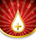 Medical background with blood drop and cross Royalty Free Stock Photography