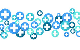 Medical background, Blue crosses Royalty Free Stock Photo