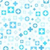 Medical background, Blue crosses Stock Image