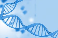 Medical background with blue dna helix Stock Photo