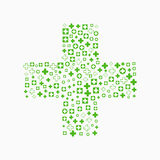 Medical background, Blue and green crosses Royalty Free Stock Photos