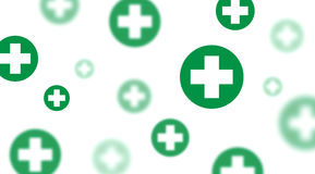 Medical background, Blue and green crosses Royalty Free Stock Photography