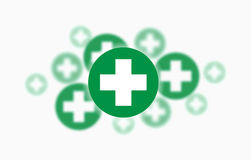 Medical background, Blue and green crosses Royalty Free Stock Photo