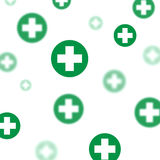 Medical background, Blue and green crosses Stock Image