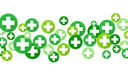 Medical background, Blue and green crosses Royalty Free Stock Images