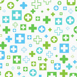 Medical background, Blue and green crosses Stock Photo