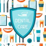 Medical background design with dental equipment Royalty Free Stock Image