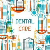 Medical background design with dental icons Stock Image