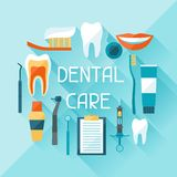 Medical background design with dental icons Stock Images