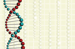 Medical background with DNA Stock Photos