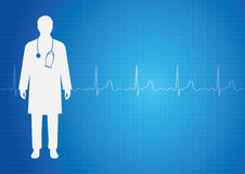 Medical background with doctor Royalty Free Stock Photo