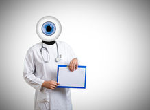 Medical background with doctor and eye Stock Images