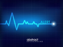 Medical background with heartbeats cardiogram. Royalty Free Stock Photography