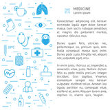 Medical background with icons and text. Medical background with icons and place for your text. Can be used for brochure, flyer, leaflet. website background stock illustration
