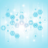 Medical background with icons. In vector royalty free illustration