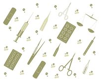 Vector background  with medicine tools Royalty Free Stock Photos