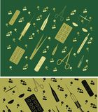 Vector background  with medicine tools Stock Photos