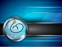 Medical background with stethoscope Stock Photography