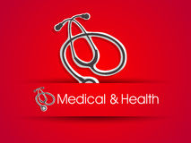 Medical background with stethoscope. Royalty Free Stock Photos