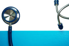 Medical background with stethoscope Royalty Free Stock Photography
