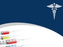 Medical background with Syringe ,medical symbol Royalty Free Stock Image