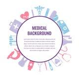 Medical background template. Vector. Medical background template. Healthcare background. Vector Illustration Stock Photos