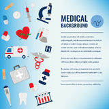 Medical background template. Vector. Medical background template. Healthcare background. Vector Illustration Royalty Free Stock Images