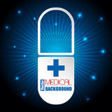 Medical background with white capsule Royalty Free Stock Image